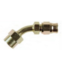 Zink plated, 45º female thread 3/8UNF, to fit 3AN hose