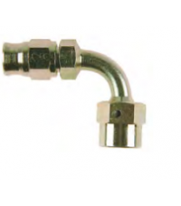 Zink plated, 90º female thread 3/8UNF, to fit 3AN hose