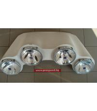 Hella 4 rally headlights, 190mm, H1