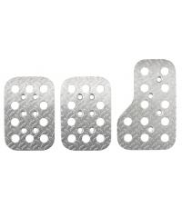 Sparco Curved Stainless Steel Pedal Set 03779AN
